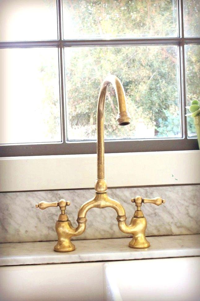 Vintage Rustic Kitchen Ideas Brass Kitchen Faucet Gold Kitchen Hardware Gold Kitchen