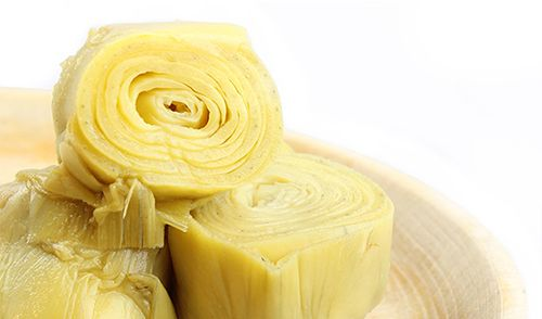 """Alcachofa de Tudela. Tallo firme y fibroso, de """"copa"""" redonda y sin cerrar, crujiente, con ligero y agradable amargor, muy jugosa y de gran frescura. En guiso se presentan contundentes y con gran carnosidad en el corazón. http://www.porprincipio.com/conservas-vegetales/13-alcachofa-de-tudela-pedro-luis.html#"""