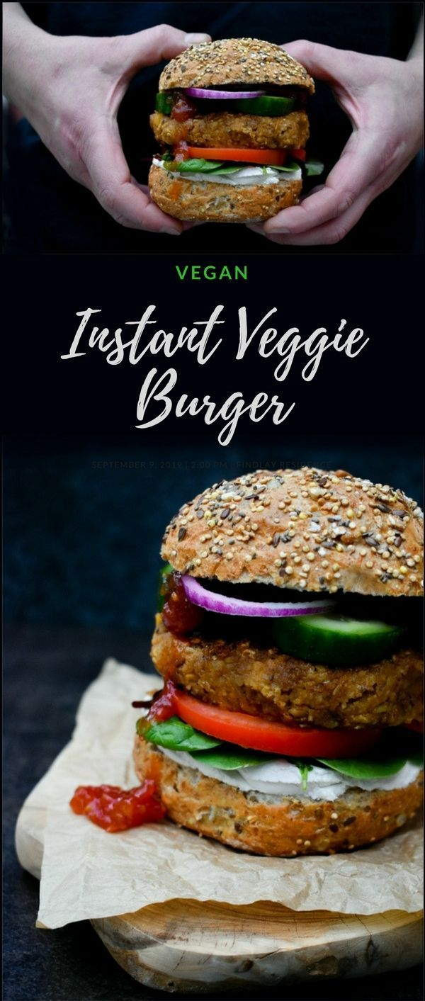 Husband approved instant veggie burger. Made in a flash, with added spices and a Scottish twist. I love quick recipes for weeknight meals, don't you? Espevially if they are easy to make like this vegan burger recipe. I am serving this up for Burns Night when we celebrate our national Scottish poet Robert Burns or as we sometimes call him Rabbie Burns. Suitable for vegans #veganburger #veggieburger #vegan #BurnsNight #vegetarianhaggis #haggis via @deuxpardeuxKIDS