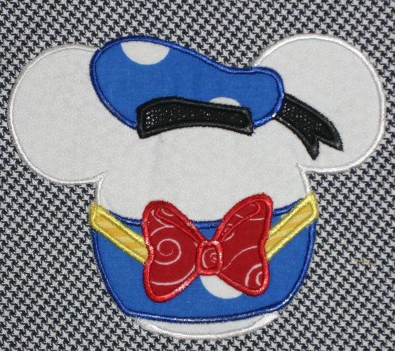 Custom Personalized Applique Embroidery Tshirt ..Mickey Mouse as DONALD  DuCK..Disney Cruise