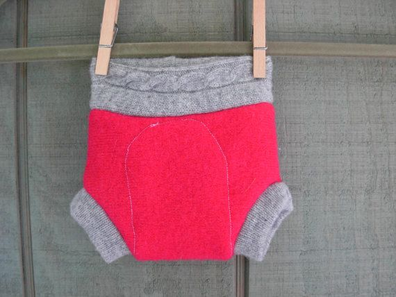 Hot pink and grey newborn soaker by sweetbunnywool on Etsy, $9.00