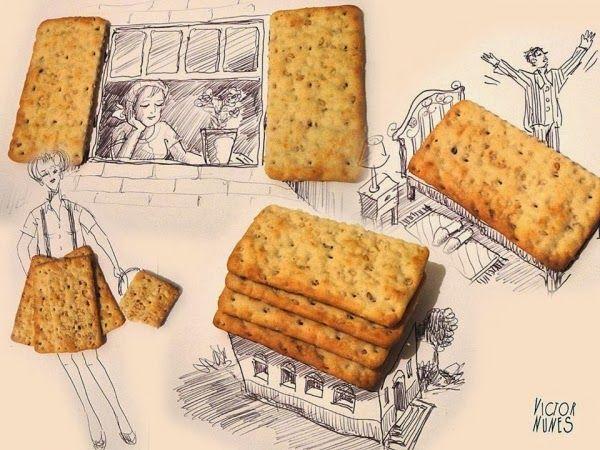 ekscentryczna sztuka wyobraźni - quirky drawings by Victor Nunes