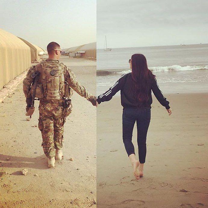 I absolutely love this @alieshaaa #military #militarylove #militarygirlfriend…