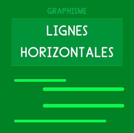 Graphisme Maternelle - Les lignes horizontales. Traits horizontaux