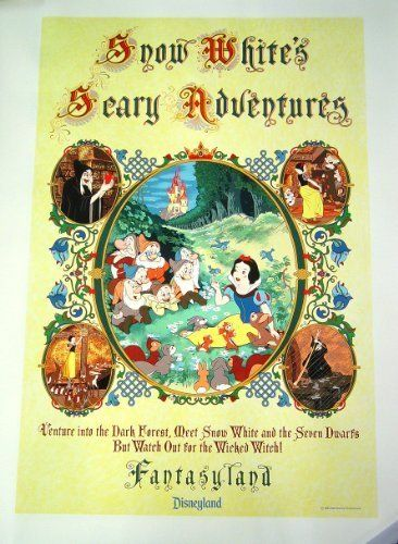Disneyland Fantasyland Snow Whites Scary Adventures Ride Poster Lithograph 36 x 48 inches @ niftywarehouse.com #NiftyWarehouse #Geek #Gifts #Collectibles #Entertainment #Merch
