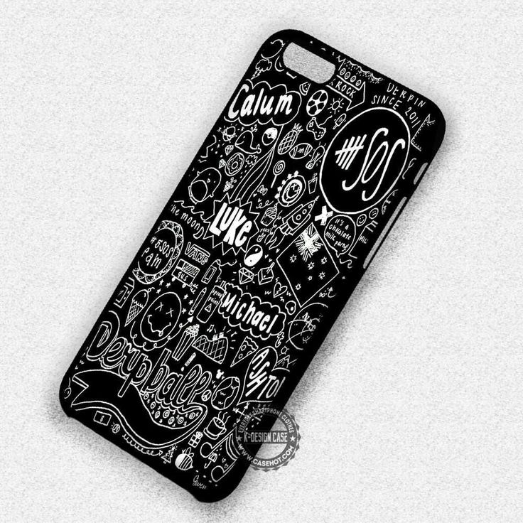 Black Fan Art Collage 5sos - iPhone 7 6s 5c 4s SE Cases & Covers
