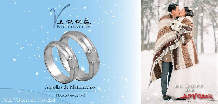 El Arte de Ammar ♥  Argollas de Matrimonio Oro & Platino / Anillos de Compromiso Platino & Diamante... Feliz Víspera de Navidad... #navidad #momentos #miércoles #tbt #joyería #diciembre #amor #yonovia