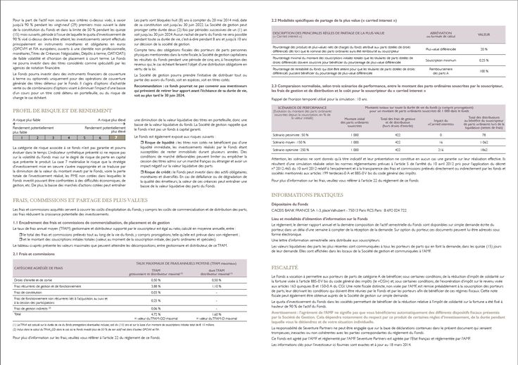 DICI - Pages intérieures - MASSERAN PATRIMOINE INNOVATION 2014 - Mars 2014 - SEVENTURE PARTNERS