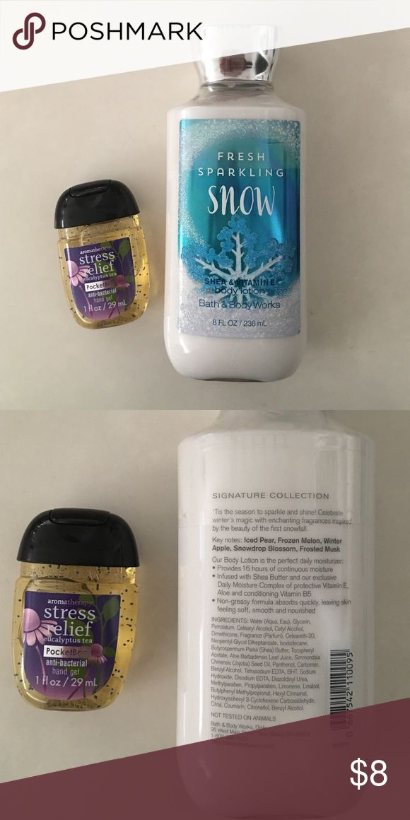 Bath and Body Works Bundle NWT Brand new Fresh Sparkling Snow body lotion with Eucalyptus Tea antibacterial hand gel Sephora Other