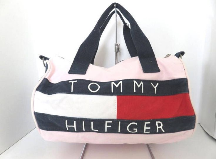Excited to share the latest addition to my #etsy shop: 90s Tommy Hilfiger Duffel Bag Pink Big Logo Tommy Hilfiger Luggage Bag Tommy Hilfiger Travel Bag
