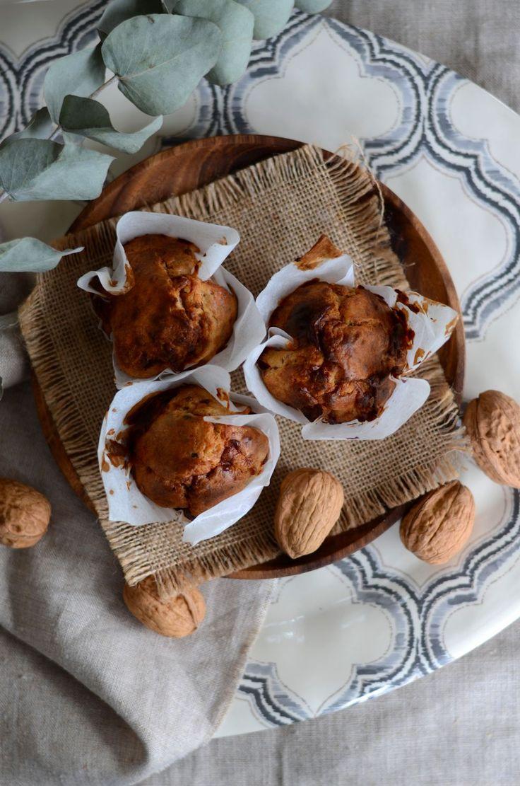 Muffins au fromage de chèvre et noix - Recette apéritive {facile, rapide et végétarienne}