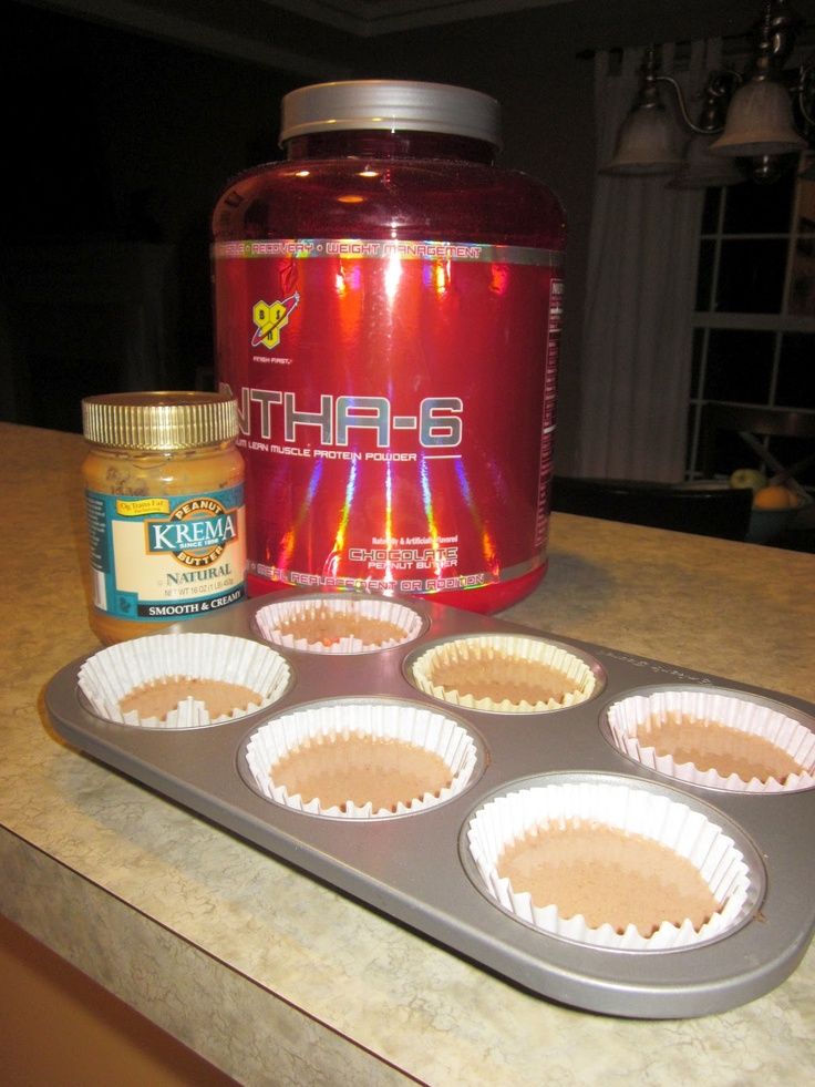 I use 1 scoop chocolate peanut butter flavored protein(Syntha-6), 1 big spoonful of peanut butter, 1 tbsp cocoa, and 4 oz water-just blend and freeze for about an hour. Super easy
