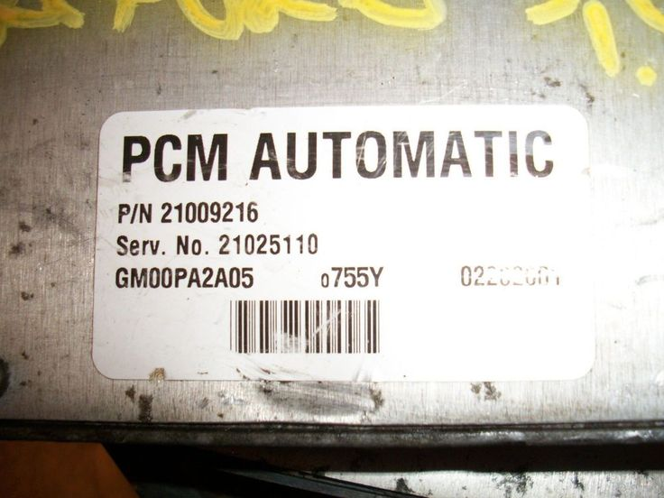 JF ) 2001 #SATURN S SERIES ENGINE COMPUTER PCM ECU #21025110 #21009216