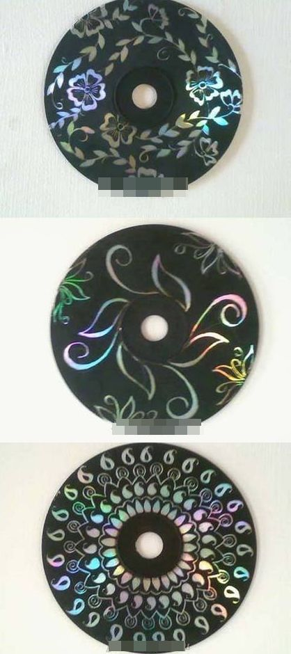 Craft with old CDs. Paint them black and scratch a design through. Good idea for mandalas