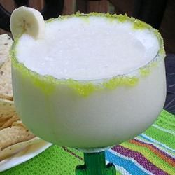 """Frozen Banana Margaritas 