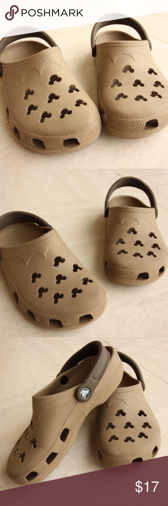 Disney Crocs (Unisex) Crocs - Disney Tan Size : Women - 6-7 , Men - 4-5   -Very gently worn crocs Shoes Sandals