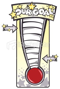 Fundraiser thermometer stock illustration 9338506 goal for Free fundraiser thermometer template
