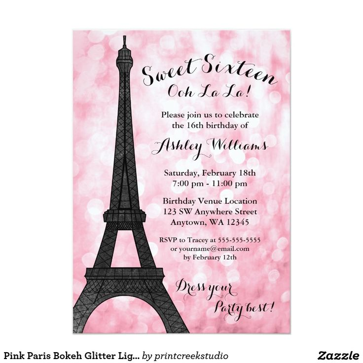 17 best Sweet 16 Invitations images on Pinterest   Congratulations ...