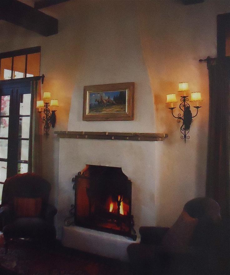 The 25 best adobe fireplace ideas on pinterest adobe for Southwestern fireplaces