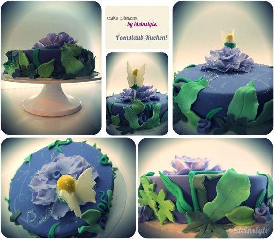 Tinkerbell fairy dust cake for kids birthday #fairy #cake  #feenstaub kuchen by kleinstyle.com