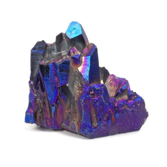 Titanium Flame Aura Quartz Cluster Metallic By ABSBeadSupplies