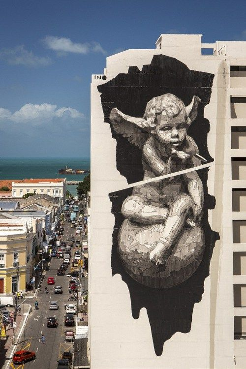 zeds: INO mural titled 'Heaven and Hell on Earth' in Fortaleza, Brazil