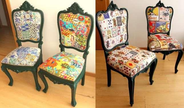 4 (Quatro) Cadeiras Antigas Restauradas e Remodeladas São Domingos de Benfica - imagem 1