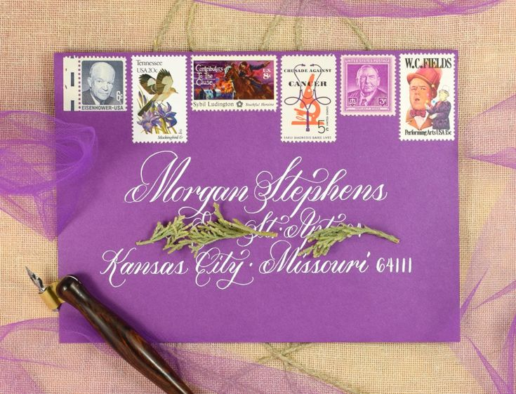 Janet Style Calligraphy Envelope   The Postman's Knock