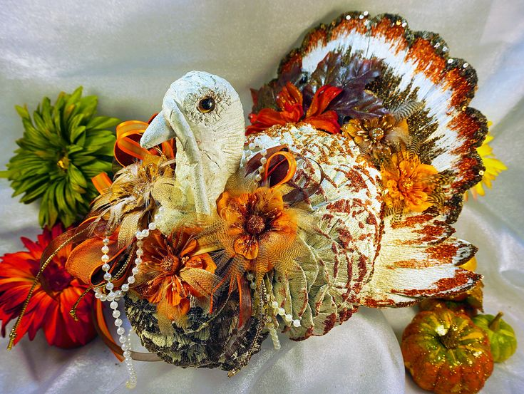 Beautiful embellished #turkey for your fall and # ...