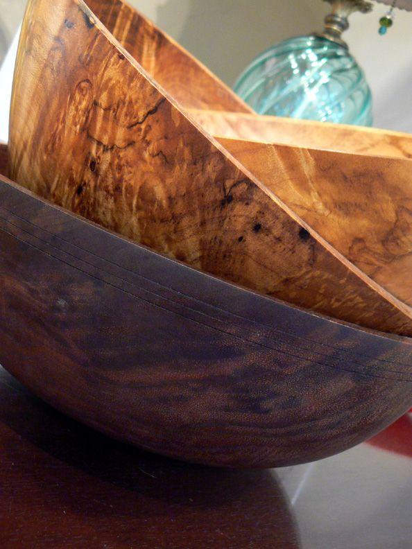 Beautiful turned bowls by Scott Trumbo