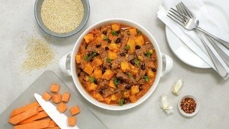 Biffgryte med søtpotet og quinoa - Sunn - Oppskrifter - MatPrat