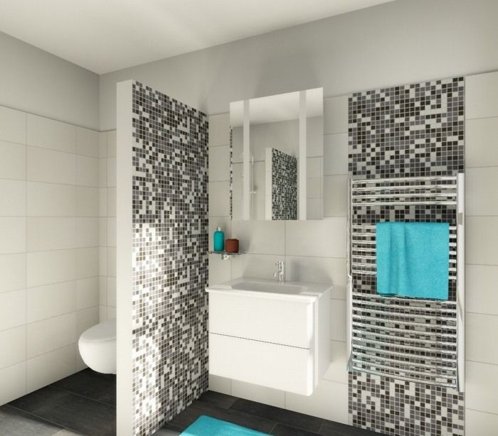 keramik mosaik fliesen setzen sch ne akzente schwarz wei. Black Bedroom Furniture Sets. Home Design Ideas