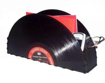Accessoires de bureau Vintage Vinyl Record stockage conteneur Record Album Vintage Home décoration