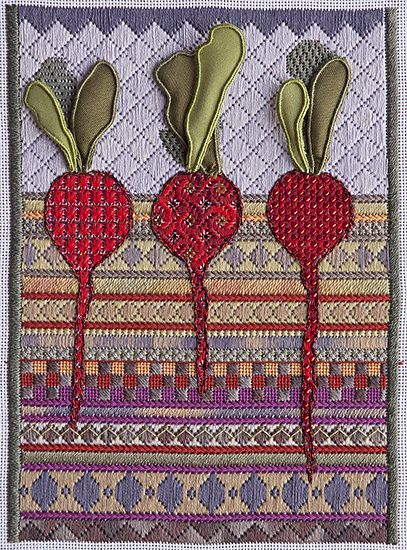 Radishes by Jennifer Riefenberg Embroidery ~ x