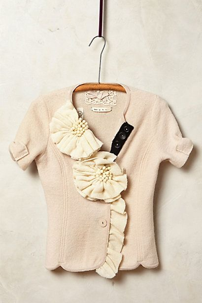 Corsage Sweater Jacket anthropologie.com #anthrofave