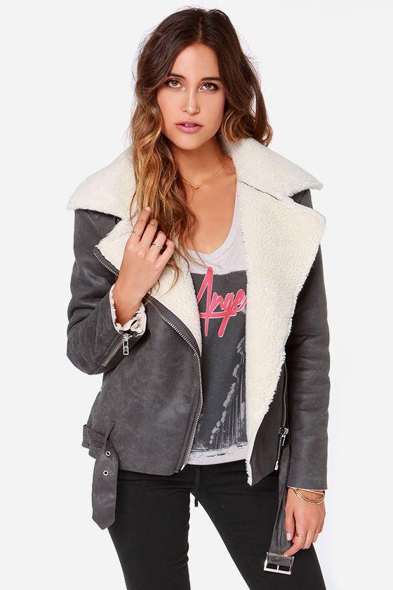 Glamorous Hugs and Harmony Grey Bomber Jacket at Lulus.com!
