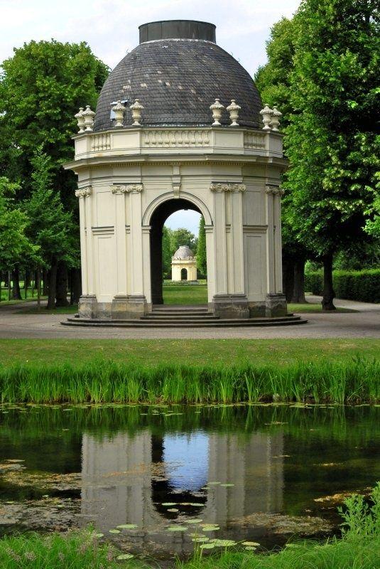 Classical, round, garden folly.