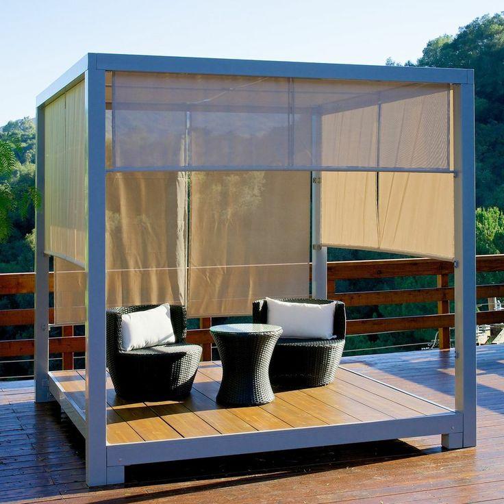 Array ~ Outdoor Patio Furniture 8×8 Gazebo Ten Canopy W Shade Screen More