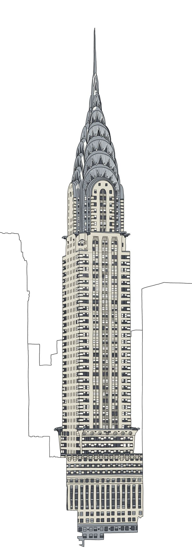 chrysler building drawing - Google Search