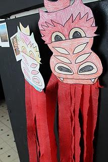Chinese New Year craft - dragon masks