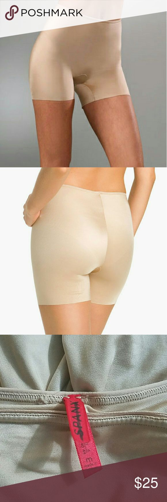 Spanx slimplicity short shaper in medium nude new without tag in perfect condition was a floor display in a dept store. Laser cut in the hem made of nylon fits 6 to 8 SPANX Intimates & Sleepwear Shapewear