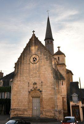 La façade de la chapelle Saint-Benoît d'Argenton sur creuse