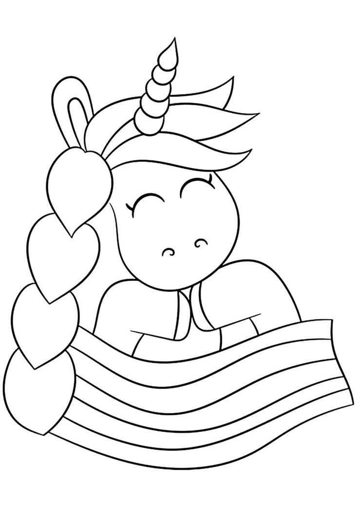 Lovely Brade of the Unicorn | Unicorn coloring pages ...