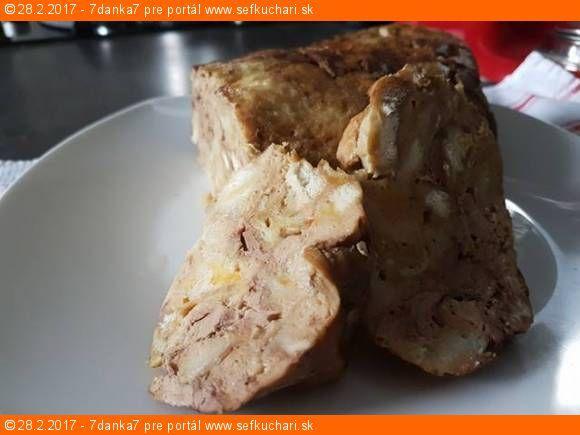 Plnka alebo po našom nádivka Neodmysliteľne patrí k pečenému kurčaťu. Ingrediencie 6 rožkov (3 namočiť a vyžmýkať) a 3 suché 2 vajcia Soľ mensia kl Vegeta ideálne domáca rovnako ako soli Korenie Cesnak - 2 strúčky Pečienka 250-350g Petržlenová vňať - od oka kto má ako rád Lyžička oleja Inštrukcie Všetky suroviny spolu riadne pomágať …