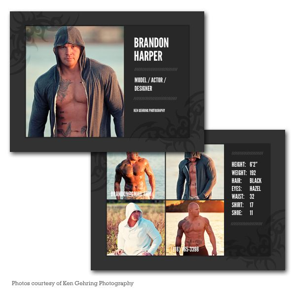 model comp card template my photography pinterest