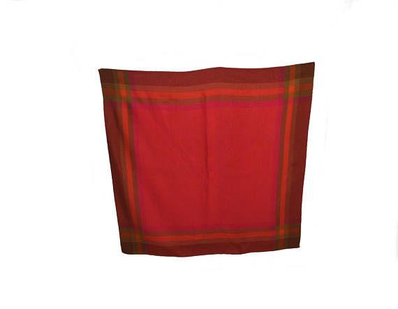 Wonderful vintage Tablecloth with gorgeous colors: orange
