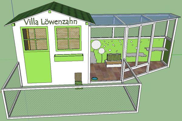 Kaninchen Info - Aussengehegebau - Villa Löwenzahn