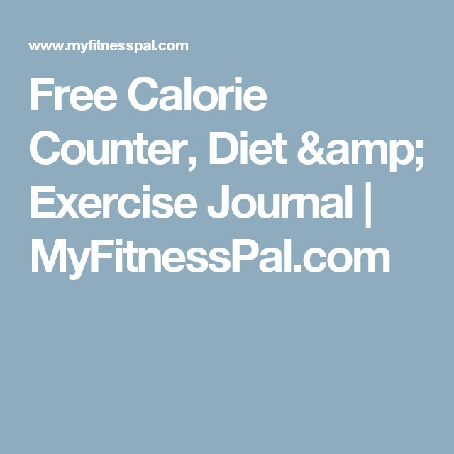 Free Calorie Counter, Diet & Exercise Journal | MyFitnessPal.com
