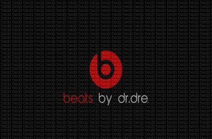 Beats By Dr Dre Logo Black Minimalism - Cartoon-City.com