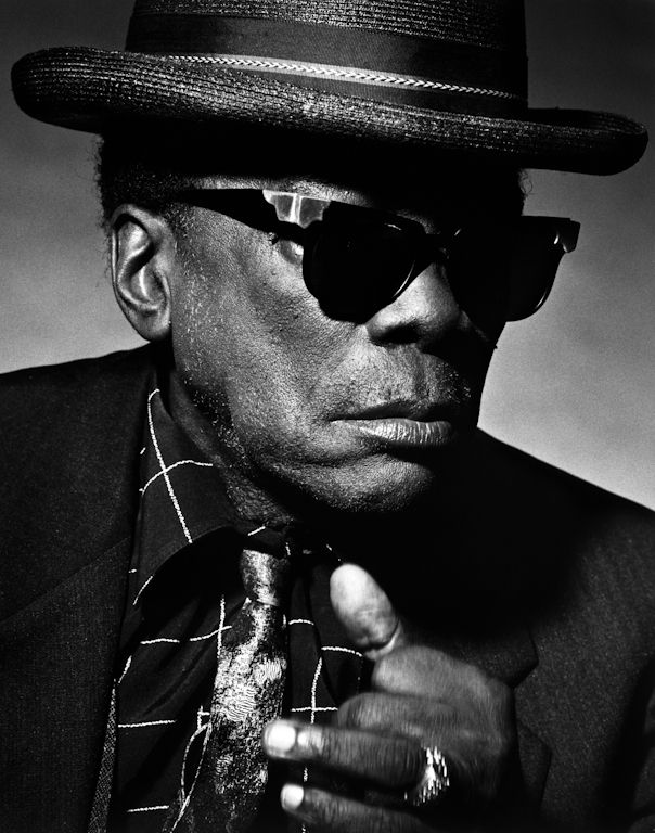 John Lee Hooker (1917-2001) - highly influential American blues singer, songwriter and guitarist. Photo by Greg Gorman